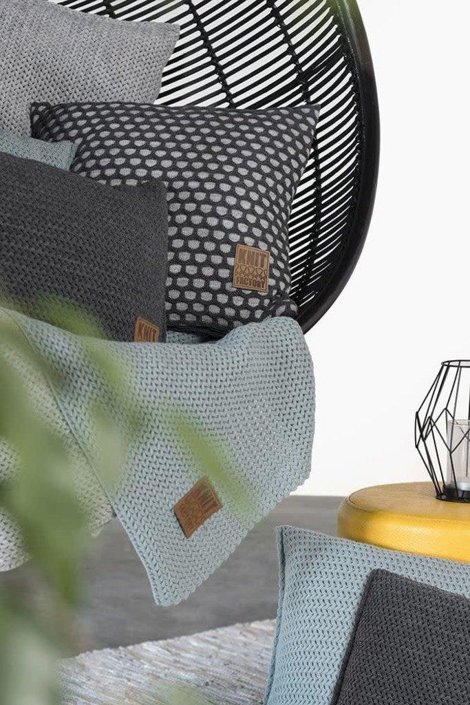 Knit Factory Knit Factory Mila Kissen 50x50 Anthrazit/Grau