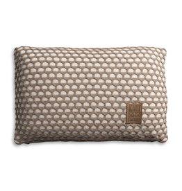 Knit Factory Mila Kussen 60x40 Beige/Marron