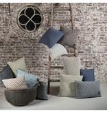 Knit Factory Knit Factory Mila Kussen 60x40 Licht Grijs/Antraciet