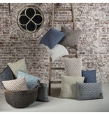 Knit Factory Knit Factory Mila Kussen 60x40 Antraciet/Licht Grijs