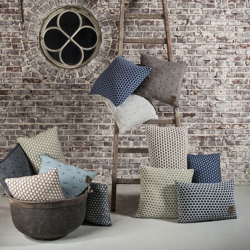 Knit Factory Knit Factory Mila Kussen 50x50 Seda/Olive