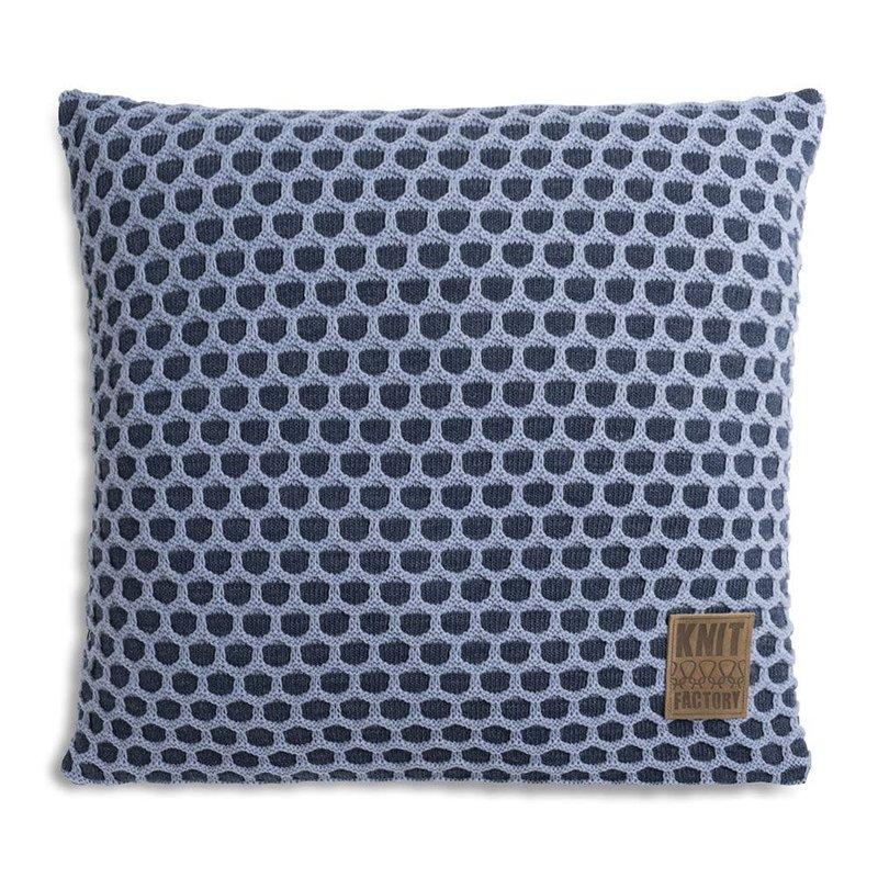 Knit Factory Knit Factory Mila Kissen 50x50 Jeans/Indigo