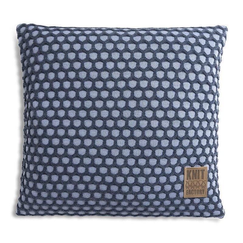 Knit Factory Knit Factory Mila Kussen 50x50 Indigo/Jeans