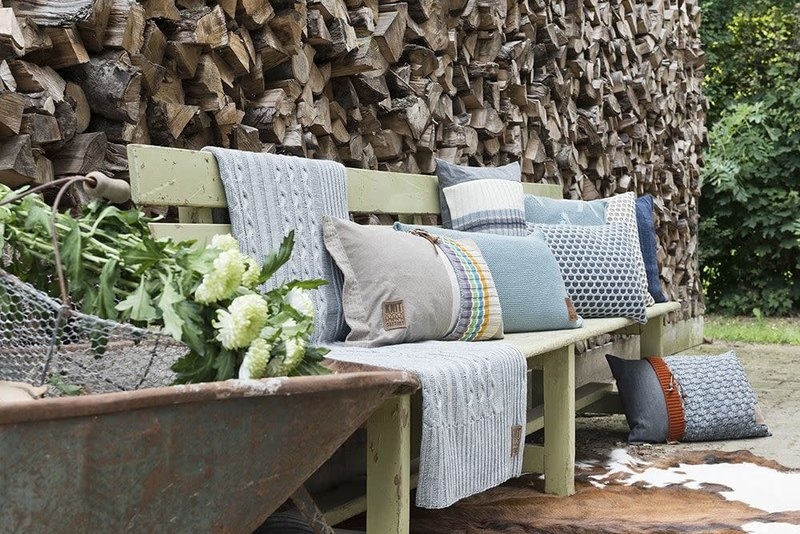 Knit Factory Knit Factory Mila Kussen 50x50 Marron/Beige