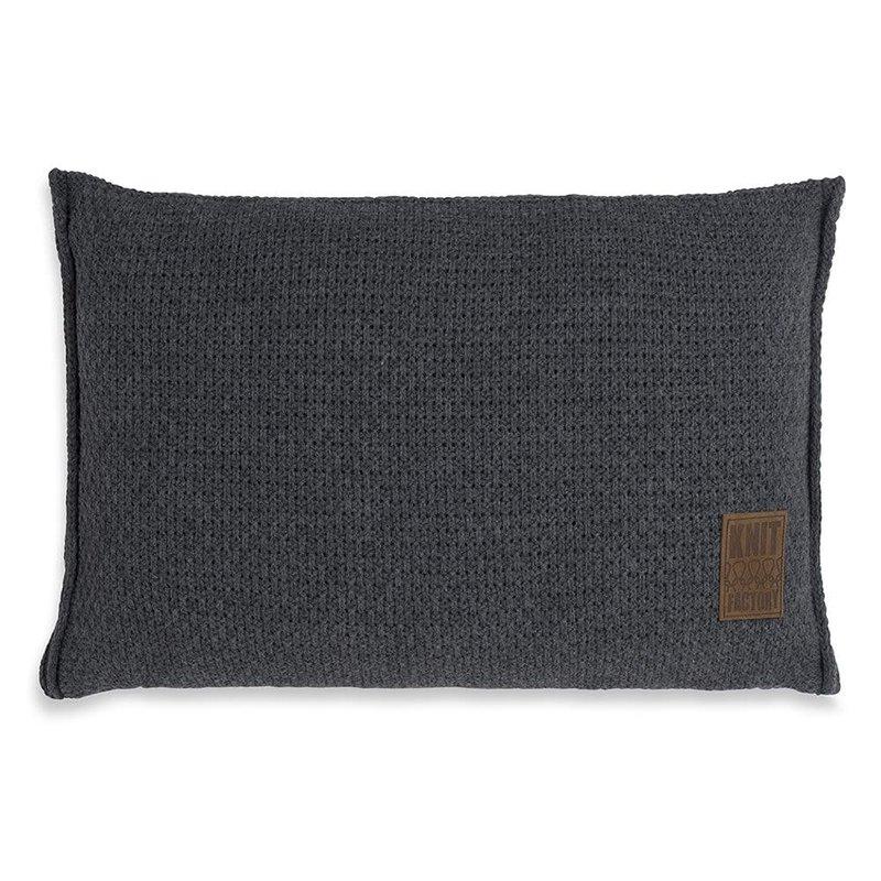 Knit Factory Knit Factory Jesse Kissen 60x40 Anthrazit