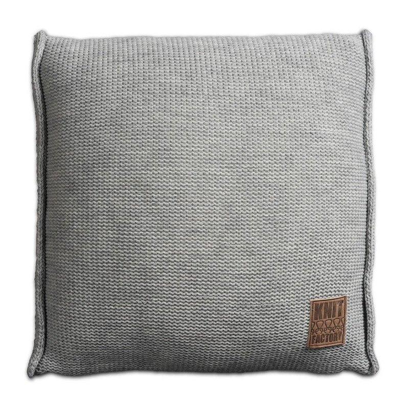 Knit Factory Knit Factory Uni Kissen 50x50 Grau