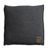 Knit Factory Knit Factory Uni Kissen 50x50 Anthrazit