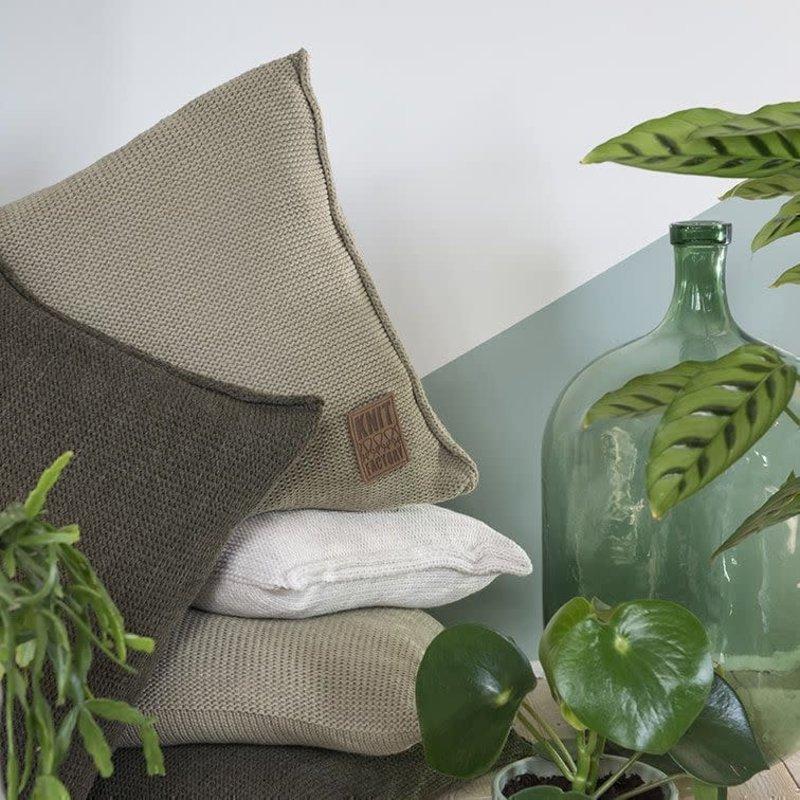 Knit Factory Knit Factory Uni Kissen 50x50 Stone Green