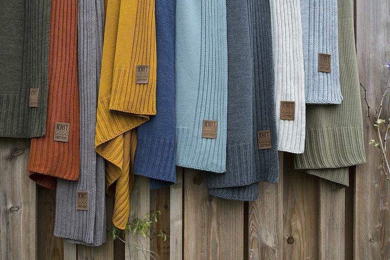 Knit Factory Knit Factory Uni Plaid Taupe