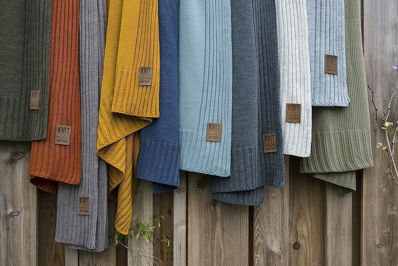 Knit Factory Knit Factory Uni Plaid Antraciet