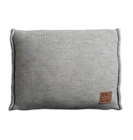Knit Factory Uni Kissen 60x40 Grau