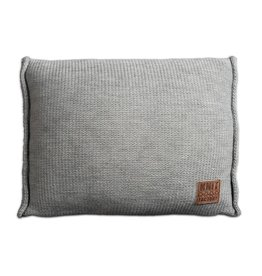 Knit Factory Uni Kussen 60x40 Licht Grijs