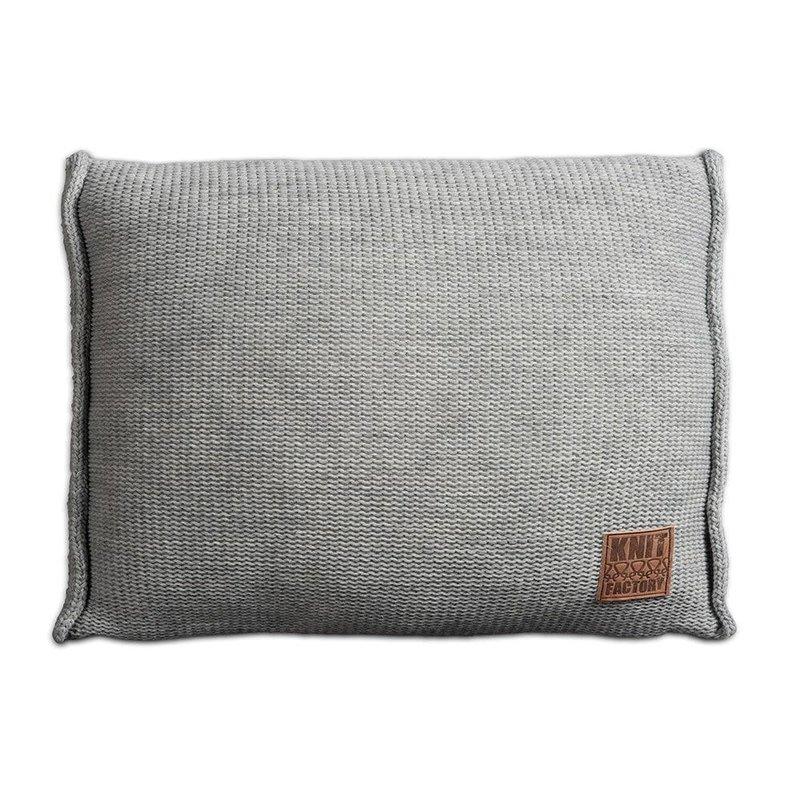 Knit Factory Knit Factory Uni Kissen 60x40 Grau