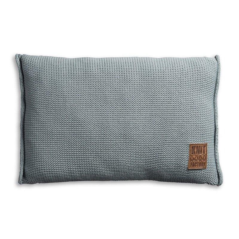 Knit Factory Knit Factory Uni Kussen 60x40 Stone Green