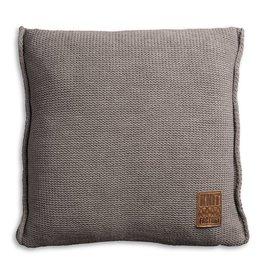 Knit Factory Uni Kussen 50x50 Taupe