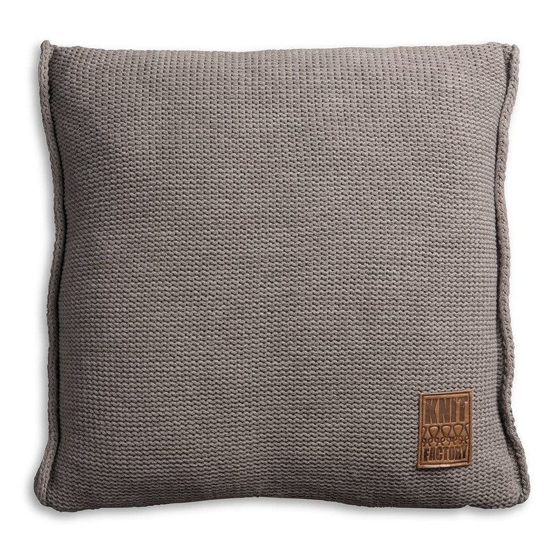 Knit Factory Knit Factory Uni Kussen 50x50 Taupe