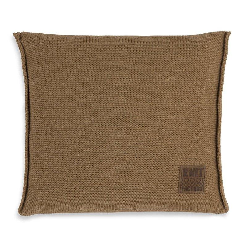 Knit Factory Knit Factory Uni Kussen 50x50 New Camel