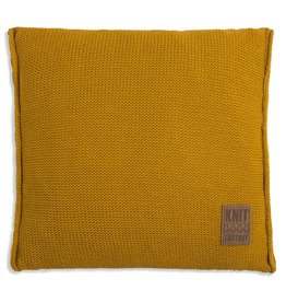Knit Factory Uni Kussen 50x50 Oker