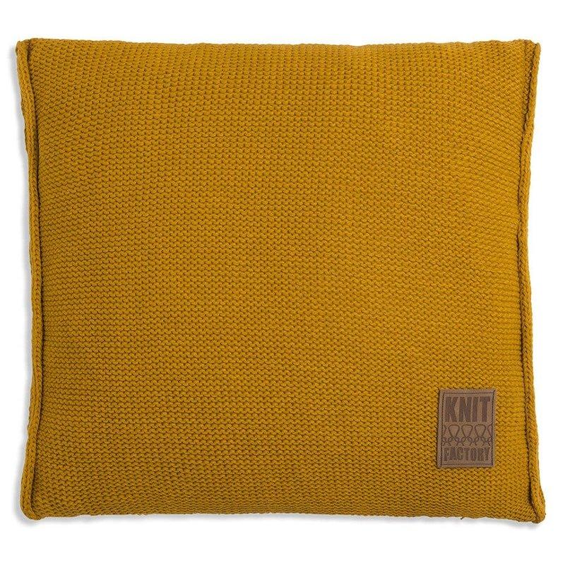 Knit Factory Knit Factory Uni Kussen 50x50 Oker