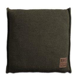 Knit Factory Uni Kissen 50x50 Grün