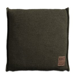 Knit Factory Uni Kussen 50x50 Groen