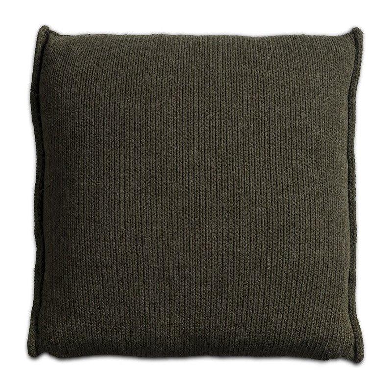 Knit Factory Knit Factory Uni Kussen 50x50 Groen