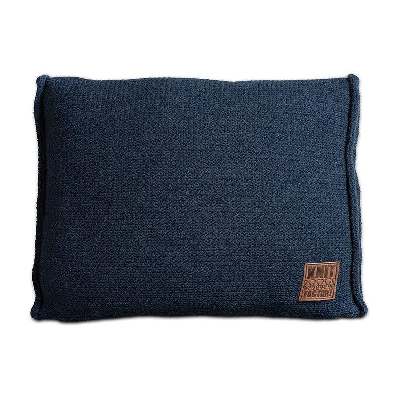 Knit Factory Knit Factory Uni Kissen 60x40 Dunkel Blau