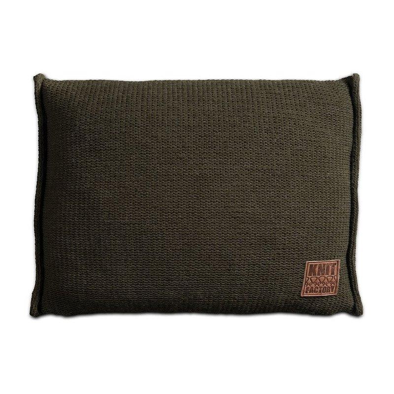 Knit Factory Knit Factory Uni Kissen 60x40 Grün