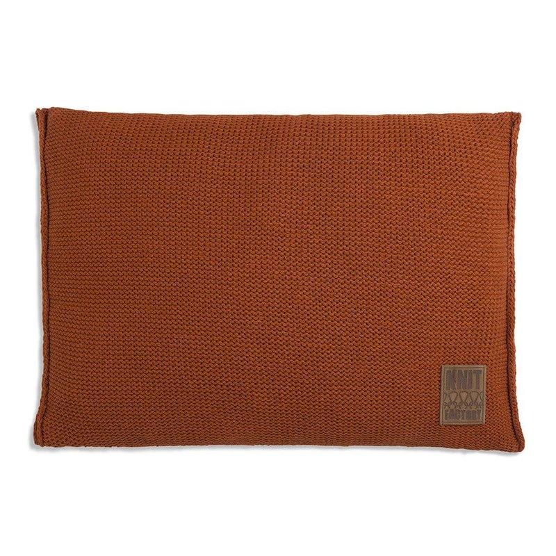 Knit Factory Knit Factory Uni Kussen 60x40 Terra
