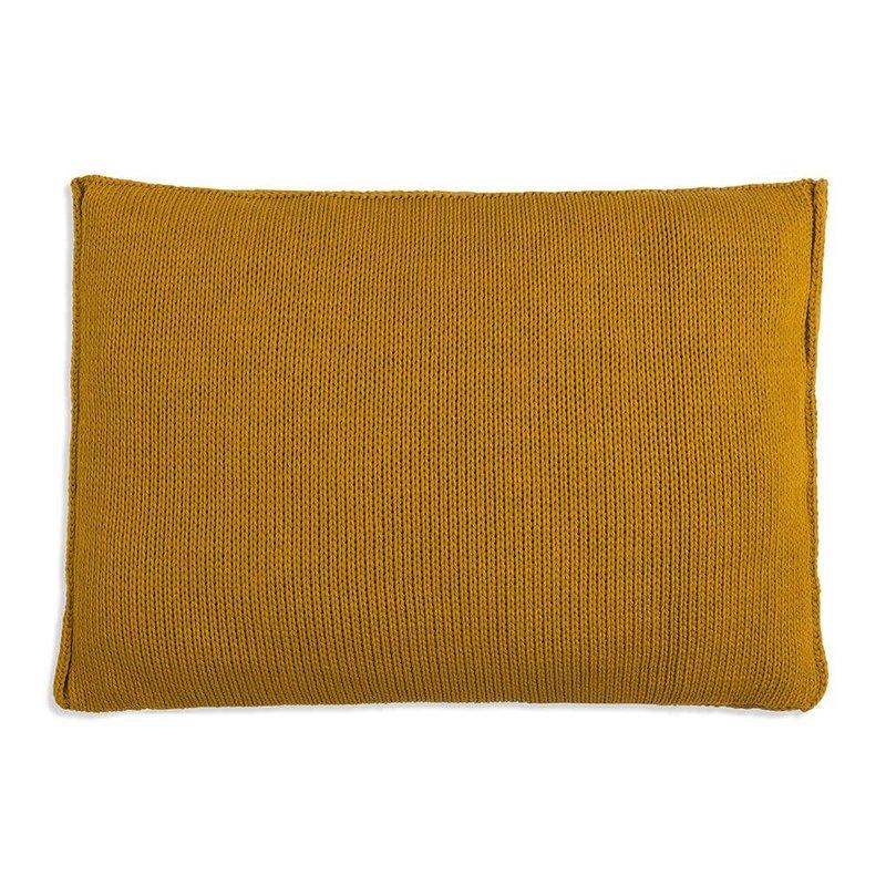Knit Factory Knit Factory Uni Kussen 60x40 Oker