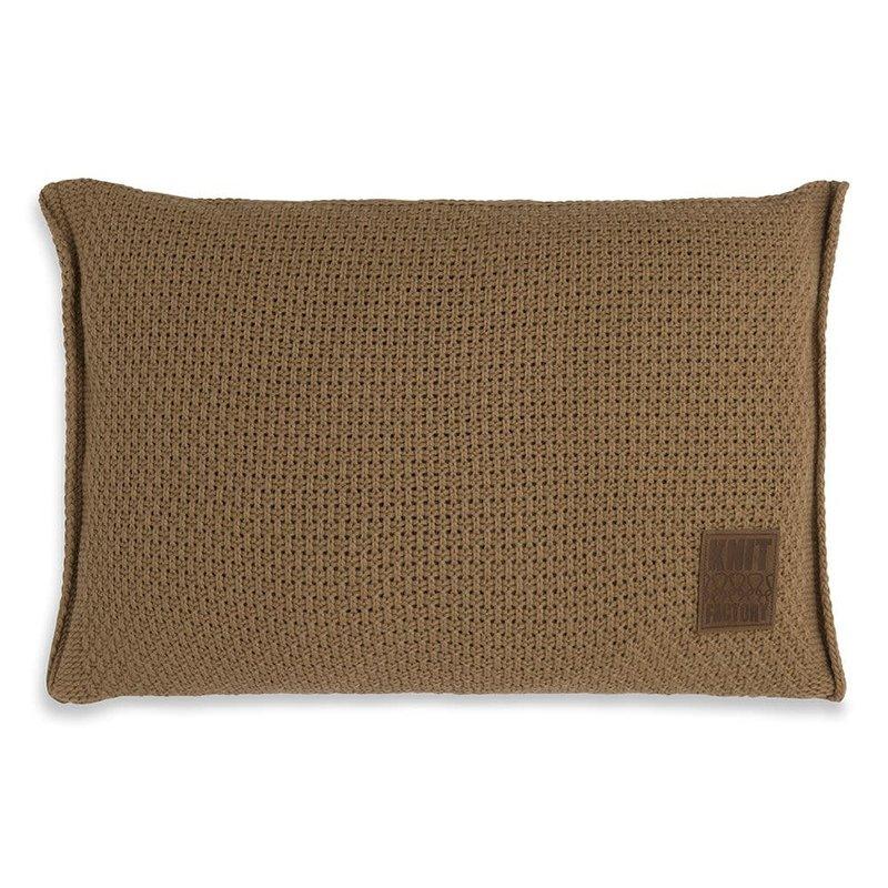 Knit Factory Knit Factory Uni Kussen 60x40 New Camel
