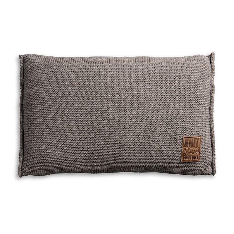 Knit Factory Knit Factory Uni Kissen 60x40 Taupe