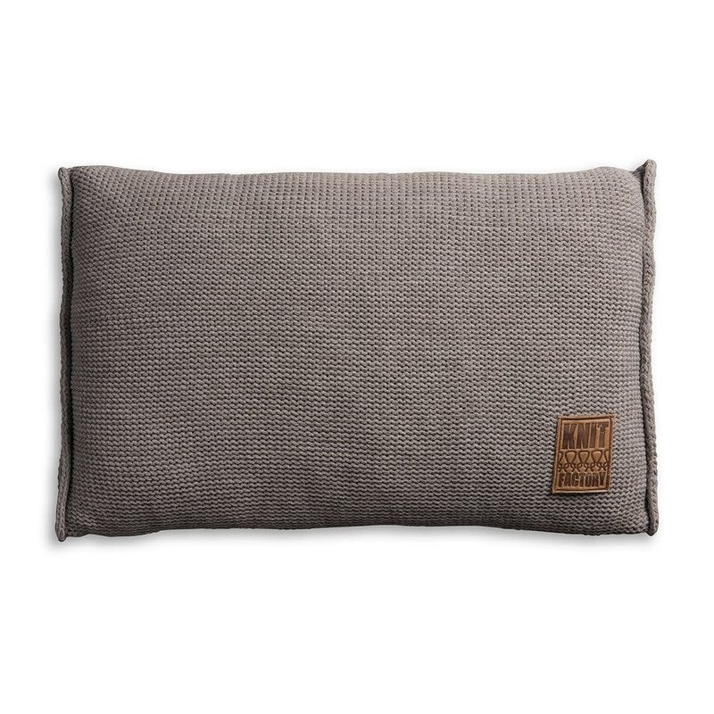 Knit Factory Knit Factory Uni Kussen 60x40 Taupe