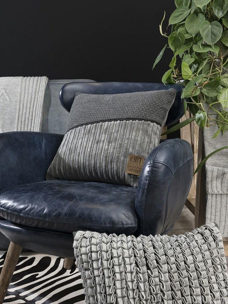 Knit Factory Knit Factory Sam Kussen 50x50 Beige/Beige