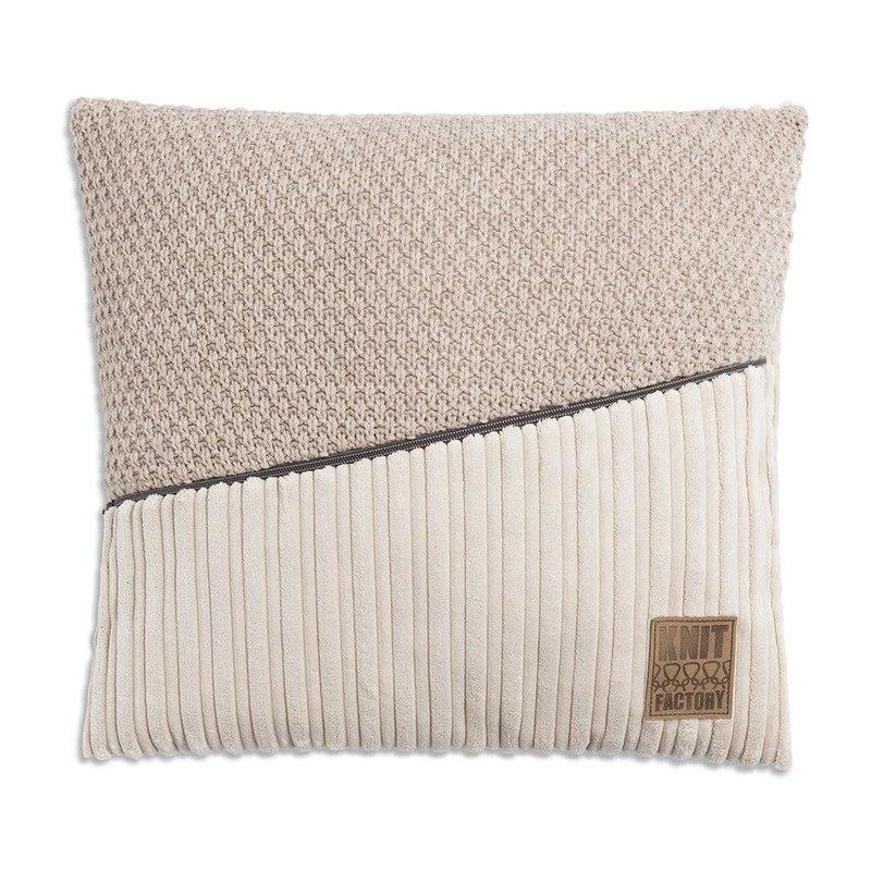 Knit Factory Knit Factory Sam Kissen 50x50 Beige/Marron