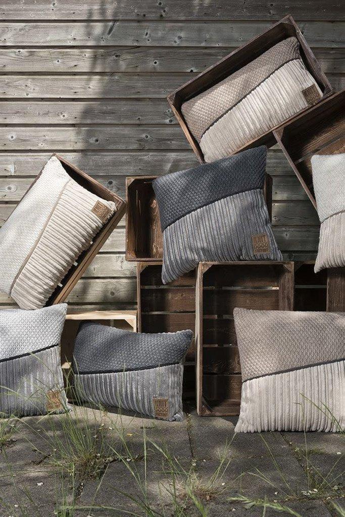 Knit Factory Knit Factory Sam Kussen 50x50 Beige/Marron