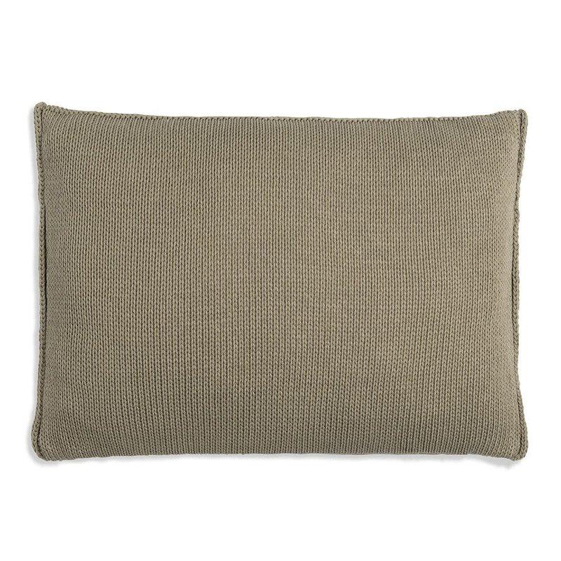 Knit Factory Knit Factory Uni Kussen 60x40 Olive