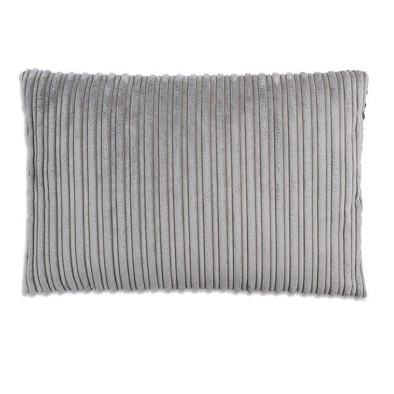 Knit Factory Knit Factory Sam Kussen 60x40 Licht Grijs/Antraciet
