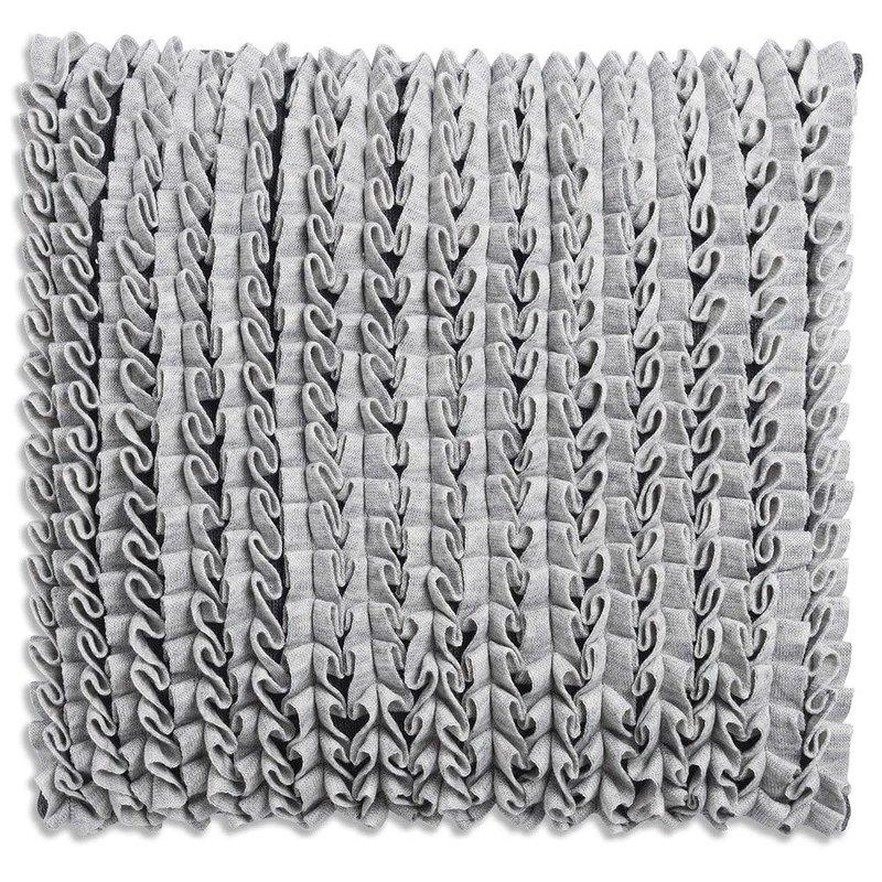 Knit Factory Knit Factory Sara Kussen 50x50 Licht Grijs/Antraciet