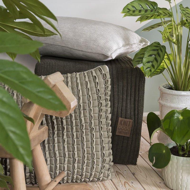 Knit Factory Knit Factory Sara Kissen 50x50 Grau/Antra