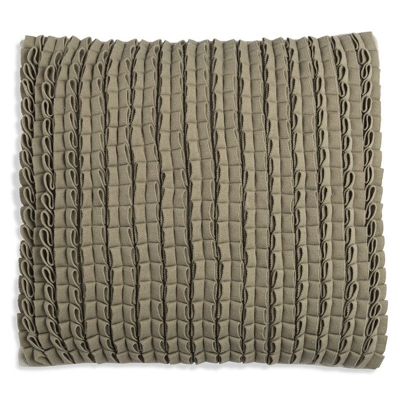 Knit Factory Knit Factory Sara Kussen 50x50 Olive/Seda