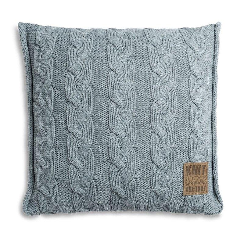 Knit Factory Knit Factory Sasha Kussen 50x50 Stone Green