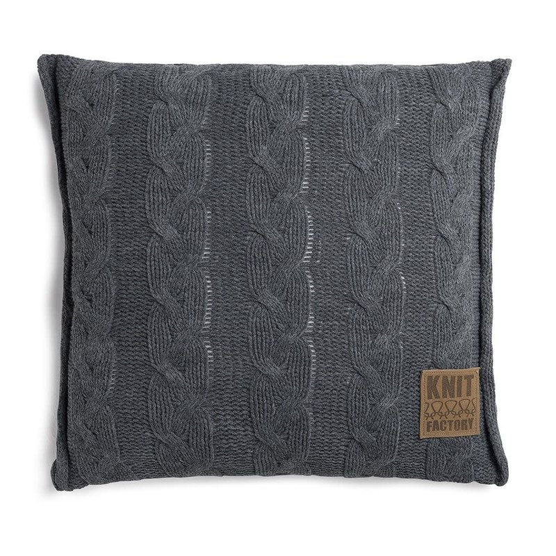 Knit Factory Knit Factory Sasha Kussen 50x50 Antraciet