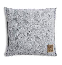 Knit Factory Sasha Kussen 50x50 Licht Grijs