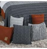 Knit Factory Knit Factory Sasha Kussen 50x50 Licht Grijs
