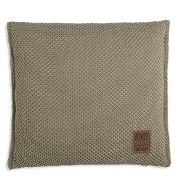 Knit Factory Lynn Kussen 50x50 Oliv