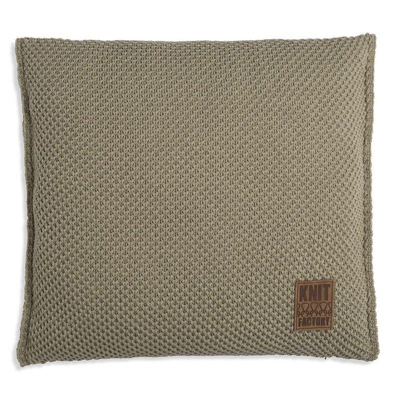 Knit Factory Knit Factory Lynn Kussen 50x50 Oliv