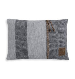 Knit Factory Roxx Kissen 60x40 Grau/Anthrazit