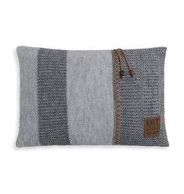 Knit Factory Roxx Kussen 60x40 Grijs/Antraciet