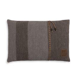 Knit Factory Roxx Kussen 60x40 Bruin/Taupe